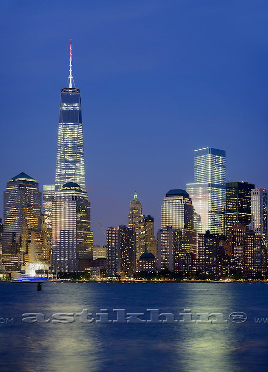 Freedom Tower, Memory of World Trade Center. USA.