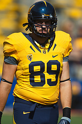 October 9, 2010; Berkeley, CA, USA;  California Golden Bears tight end Garry Graffort (89) warms up before the game against the UCLA Bruins at Memorial Stadium. California defeated UCLA 35-7.