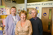 Margaret Kenworthy, Gill Webber, Anne Coult. Citizens Advice Bureau volunteers...© Martin Jenkinson, tel 0114 258 6808 mobile 07831 189363 email martin@pressphotos.co.uk. Copyright Designs & Patents Act 1988, moral rights asserted credit required. No part of this photo to be stored, reproduced, manipulated or transmitted to third parties by any means without prior written permission