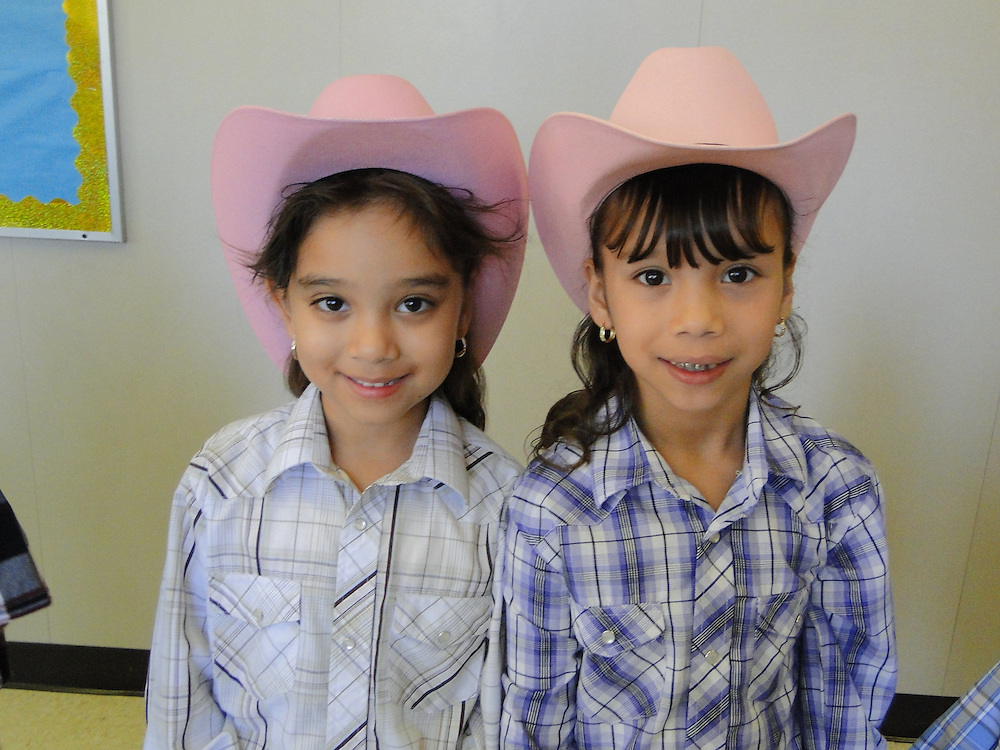 "Crespo Elementary School students recently celebrated ""Rodeo Day,"" learning about the history of western wear and the birth of the rodeo when Houston Livestock Show and Rodeo representatives came to their campus. The HLSR recently announced that a record-breaking amount of scholarship money would be awarded to Texas students this year.<br />