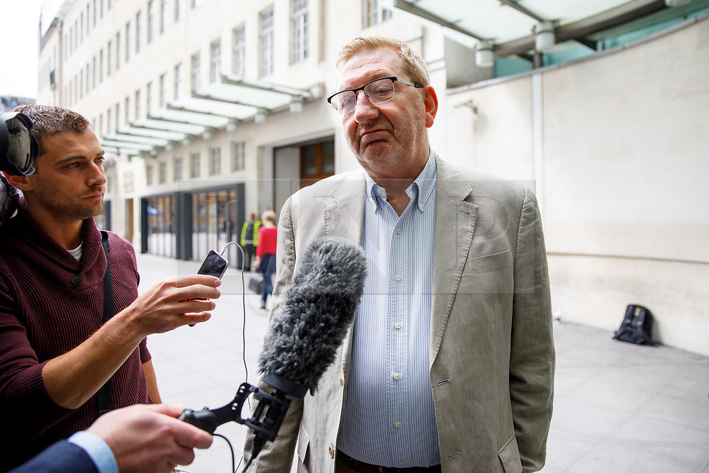 © Licensed to London News Pictures. 11/06/2017. London, UK. General Secretary of Unite the Union Len McCluskey arrives at BBC Broadcasting House in London on Sunday 11 June 2017. Photo credit: Tolga Akmen/LNP