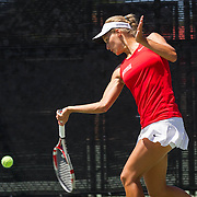 20 April 2016: The San Diego State Aztecs women's tennis team closes out their season against the University of San Diego at the Aztecs Tennis Center.