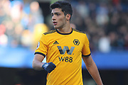 Wolverhampton Wanderers forward Raul Jimenez (9) during the Premier League match between Chelsea and Wolverhampton Wanderers at Stamford Bridge, London, England on 10 March 2019.