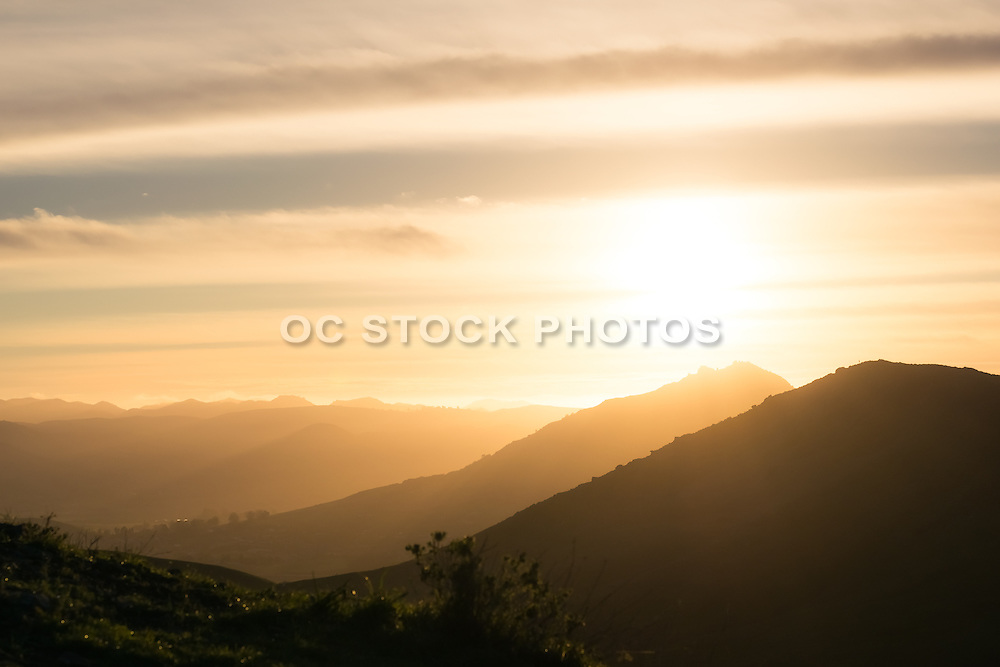 San Luis Obispo Landscape at Sunset