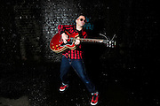 Cosmic Ray and the Constellations<br /> Photo shoot<br /> Manchester<br /> <br /> Cosmic Ray, lead vocals and guitar.