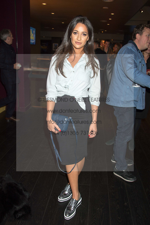 ROXIE NAFOUSI at the Al Films and Warner Music Screening of Kill Your Friends held at the Curzon Soho Cinema, 99 Shaftesbury Avenue, London on 27th October 2015.