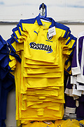 AFC Wimbledon away kit during the Leasing.com EFL Trophy match between AFC Wimbledon and Leyton Orient at the Cherry Red Records Stadium, Kingston, England on 8 October 2019.