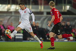 March 21, 2019 - Vienna, Austria - Robert Lewandowski of Poland and Martin Hinteregger of Austria during the UEFA European Qualifiers 2020 match between Austria and Poland at Ernst Happel Stadium in Vienna, Austria on March 21, 2019  (Credit Image: © Andrew Surma/NurPhoto via ZUMA Press)