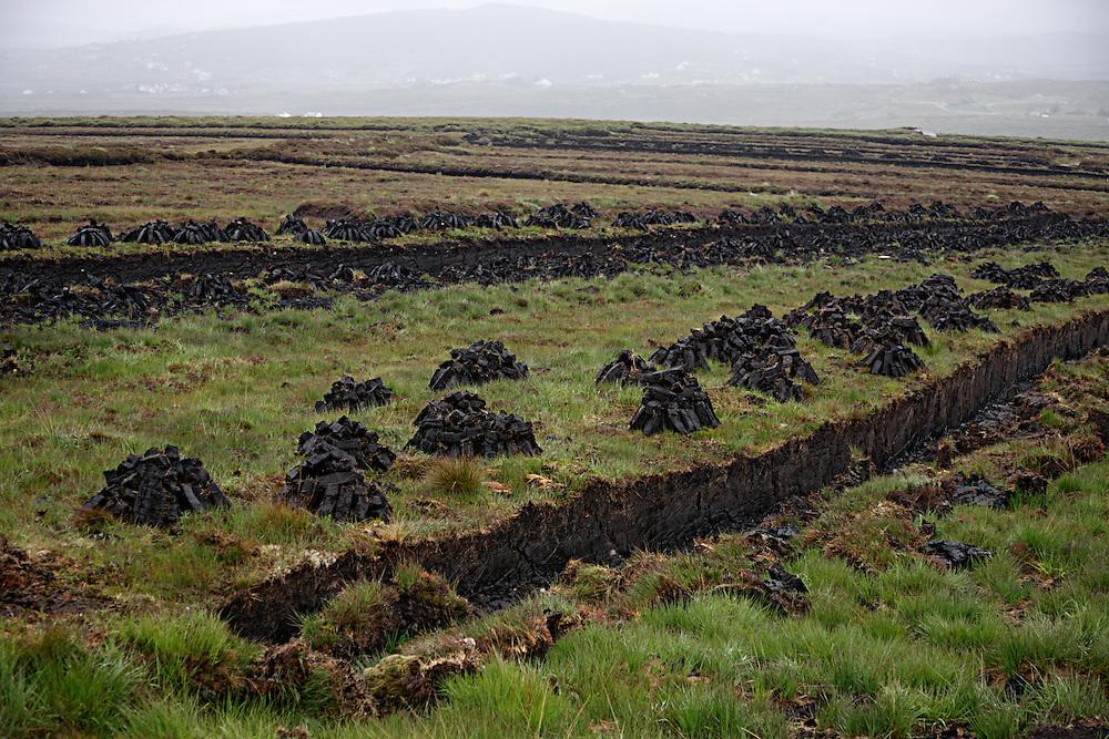 Peat bog Ireland Donegal coast, Bloody Foreland peat bog