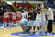KOSARKA, BEOGRAD, 21. Nov. 2010. - Radost kosarkasa Partizana.  Utakmica 13. kola NLB lige  u sezoni (2010/2011) izmedju Partizana i Crvene zvezde. Foto: Nenad Negovanovic