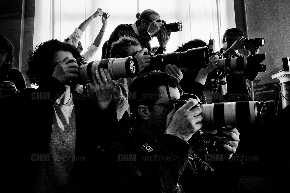 Italian and International press during the political talks at Quirinale palace in Rome on  5 April 2018. Christian Mantuano / OneShot