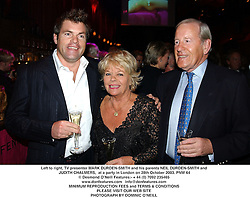 Left to right, TV presenter MARK DURDEN-SMITH and his parents NEIL DURDEN-SMITH and  JUDITH CHALMERS,  at a party in London on 28th October 2003.PNW 64