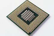 Intel core duo computer microprocessor