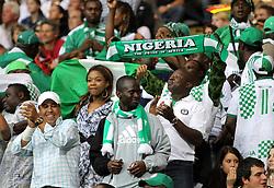 30.06.2011, Commerzbank Arena, Frankfurt, GER, FIFA Women Worldcup 2011, Gruppe A, Deutschland (GER) vs. Nigeria (NGA), im Bild .nigerianische Fans .// during the FIFA Women Worldcup 2011, Pool A, Germany vs Nigeria on 2011/06/30, Commerzbank Arena, Frankfurt, Germany.  EXPA Pictures © 2011, PhotoCredit: EXPA/ nph/  Karina Hessland       ****** out of GER / CRO  / BEL ******