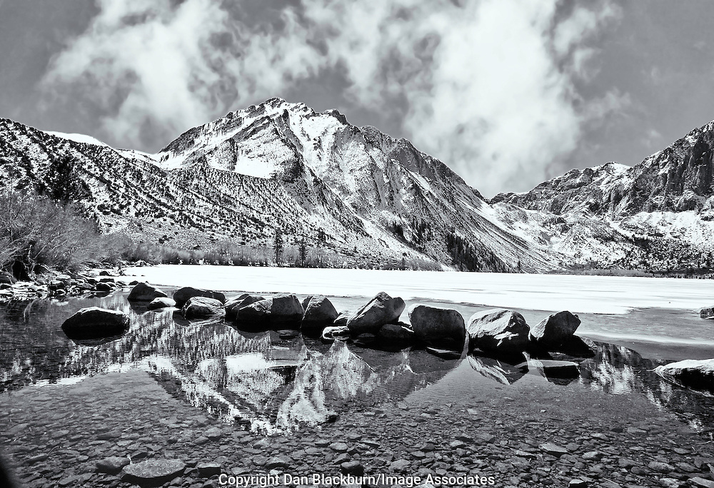 Snow Covered Sierra in Winter at Convict Lake California