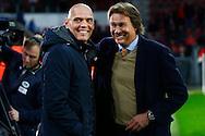 09-04-2016 VOETBAL:PSV:WILLEM II:EINDHOVEN<br /> Trainer/Coach Jurgen Streppel van Willem II in gesprek met Hans Kraay jr<br /> <br /> Foto: Geert van Erven