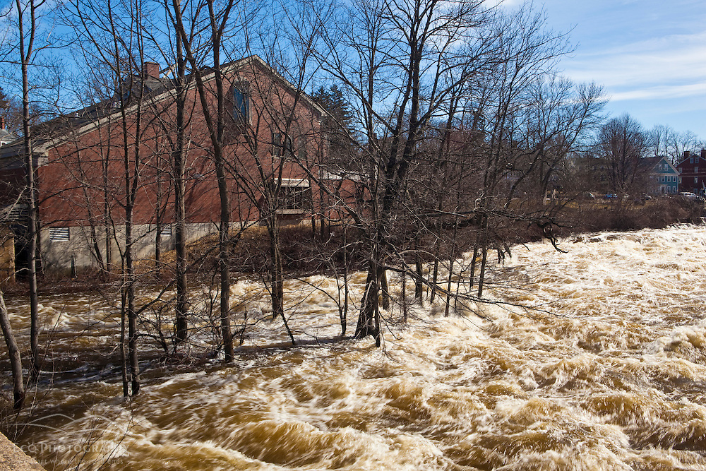 The Exeter River in Exeter, New Hampshire.  March 2010 flood.