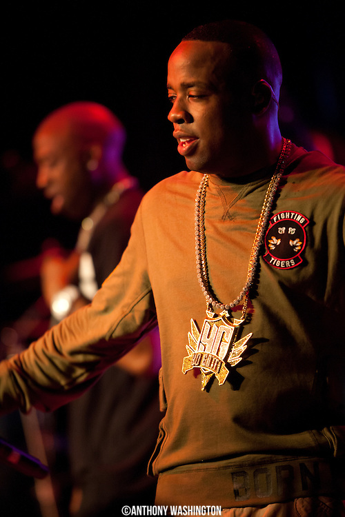 Yo Gotti performs during his Road To Riches Tour at the Baltimore Soundstage in Baltimore, MD on Sunday, May 14, 2012.