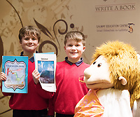 Each year over 6,000 primary school children in County Galway write and submit books in English and Irish. The winning entries are recognised in a major Awards&rsquo; Ceremony attended by an average of 1,500 attendees each year held in the Galmont Hotel.<br /> One of this years young authors was  Conor O Labhair and Ciaran MacDonnacha from Gaelscoil de hIde Oranmore. <br />    Photo:Andrew Downes, XPOSURE .