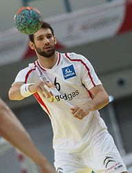 10.06.2015, Olympiahalle, Innsbruck, AUT, EHF Euro Qualifikation, Gruppe 7, Österreich vs Spanien, im Bild Dominik Schmid (AUT) // during the EHF Euro Qualifikation group 7 match between Austria and Spain at Olympiahalle, Innsbruck, Austria on 2015/06/10. EXPA Pictures © 2015, PhotoCredit: EXPA/ Jakob Gruber