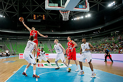 Alejandro Suarez of Spain during basketball match between National teams of Serbia and Latvia in Quarterfinal Match of U20 Men European Championship Slovenia 2012, on July 20, 2012 in SRC Stozice, Ljubljana, Slovenia. (Photo by Matic Klansek Velej / Sportida.com)