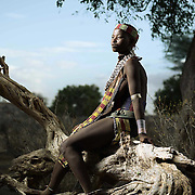 Portrait of Ama Layibila, Lower Omo Valley, Ethiopia.
