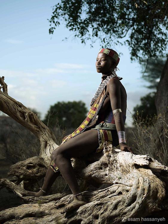 Portrait of Ama Layibila, Lower Omo Valley, Ethiopia.