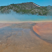 Midway Geyser Basin in Yellowstone National Park, Wyoming.  Photo by William Byrne Drumm.