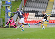 Partick Thistle keeper Tomas Cerny saves from Dundee's Greg Stewart - Partick Thistle v Dundee, Ladbrokes Premiership at Firhill<br /> <br />  - &copy; David Young - www.davidyoungphoto.co.uk - email: davidyoungphoto@gmail.com