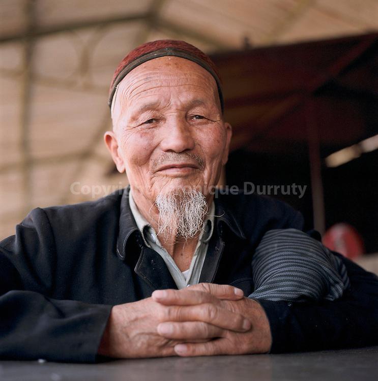 MUSULMAN CHINOIS, TURFAN, PROVINCE DE XINJIANG, CHINE
