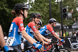 Sarah Rijkes (AUT) of WNT Rotor Pro Cycling smiles before the Prudential RideLondon Classique, a 68 km road race starting and finishing in London, United Kingdom on August 3, 2019. Photo by Balint Hamvas/velofocus.com