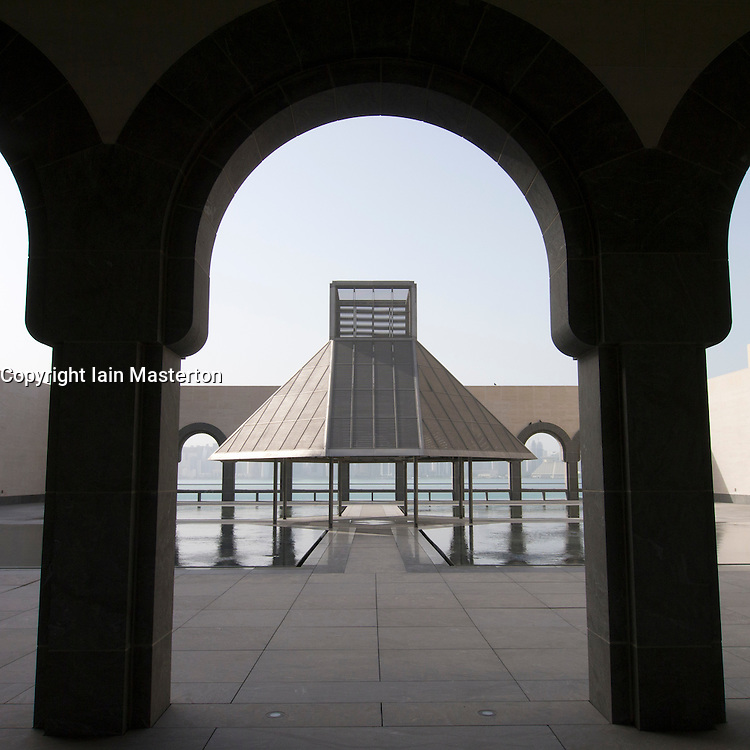 Exterior view of Museum of Islamic Art in Doha Qatar, Architect IM Pei