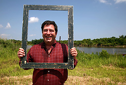 01 June 2010. New Orleans, Louisiana, USA.  <br /> Clifford Troxler at the Breton Sound Marina in Hopedale on set for Spike Lee's upcoming movie, 'If God is Willing and da Creek Don't Rise.'<br /> Photo ©; Charlie Varley/varleypix.com.