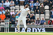 Jasprit Bumrah of India bowling during the first day of the 4th SpecSavers International Test Match 2018 match between England and India at the Ageas Bowl, Southampton, United Kingdom on 30 August 2018.