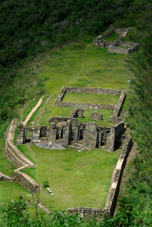 Architectural scenes from the ruins of Choquequirao, the last stronghold of the Incas, which the son of the founder of Machu Picchu constructed.