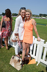 Left to right, JENNIFER LEDERMAN and her daughter FREYA LEDERMAN at the Veuve Clicquot Gold Cup, Cowdray Park, Midhurst, West Sussex on 21st July 2013.
