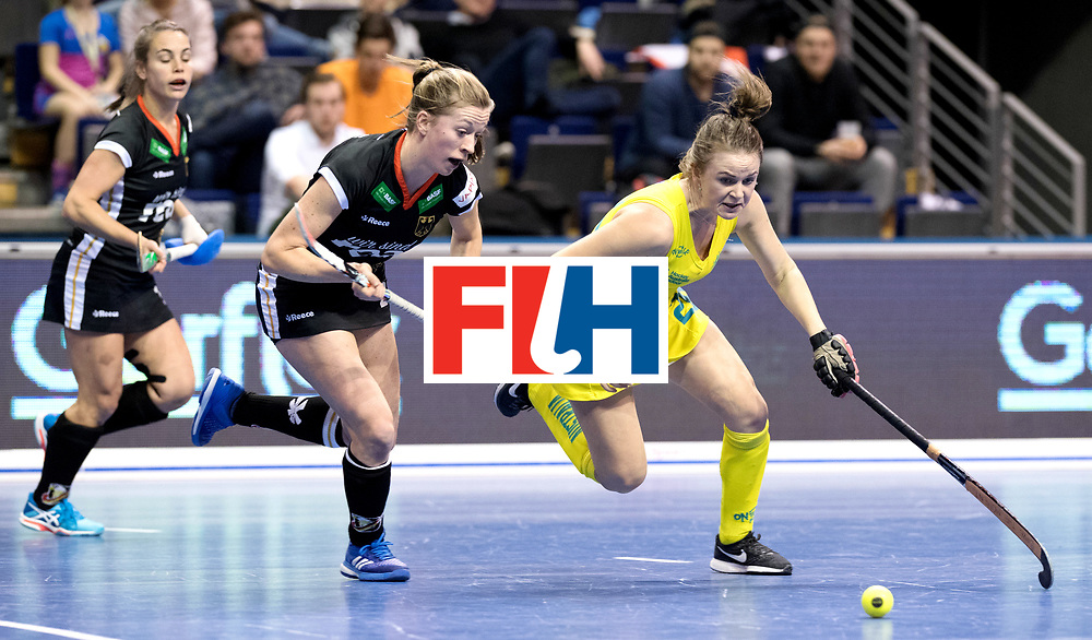 BERLIN - Indoor Hockey World Cup<br /> Women: Germany  - Australia<br /> foto: Franzisca Hauke and MURPHY Madeleine.<br /> WORLDSPORTPICS COPYRIGHT FRANK UIJLENBROEK