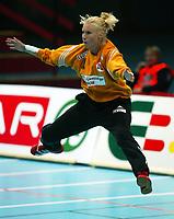 Håndball, 26. september 2002. Treningskamp, Norge - Jugoslavia 31-19. Heidi Tjugum, Norge.