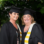 "25.08.2016          <br />  Faculty of Business, Kemmy Business School graduations at the University of Limerick today. <br /> <br /> Attending the conferring were Diploma in Management graduates, Caroline Rafter, Monaleen Height, Limerick and Ann-Marie Kennedy, Efin Co. Limerick. Picture: Alan Place.<br /> <br /> <br /> As the University of Limerick commences four days of conferring ceremonies which will see 2568 students graduate, including 50 PhD graduates, UL President, Professor Don Barry highlighted the continued demand for UL graduates by employers; ""Traditionally UL's Graduate Employment figures trend well above the national average. Despite the challenging environment, UL's graduate employment rate for 2015 primary degree-holders is now 14% higher than the HEA's most recently-available national average figure which is 58% for 2014"". The survey of UL's 2015 graduates showed that 92% are either employed or pursuing further study."" Picture: Alan Place"