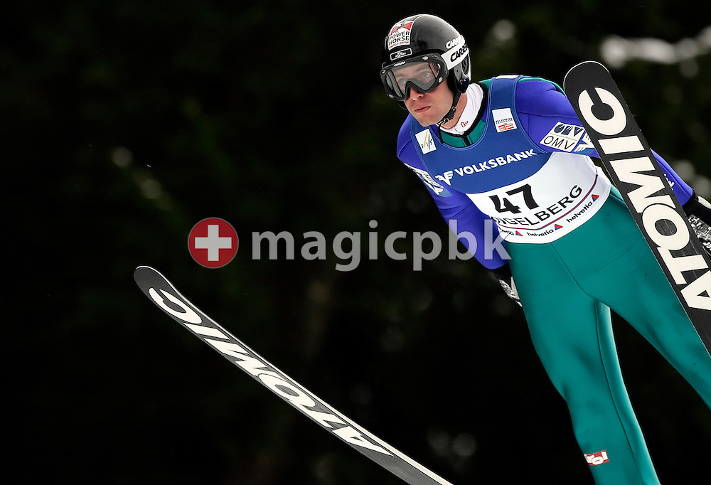 Later second placed Wolfgang Loitzl of Austria during his practice jump at the Ski Jumping World Cup in Engelberg, Switzerland, Saturday, Dec. 20, 2008. (Photo by Patrick B. Kraemer / MAGICPBK)
