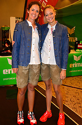 16.07.2016, Hotel Mariott, Wien, AUT, Olympia, Rio 2016, Einkleidung OeOC, im Bild Christine Wolf links ( Golf ) und Nicol Ruprecht (Rhythmische Gymnastik) // during the outfitting of the Austrian National Olympic Committee for Rio 2016 at the Hotel Mariott in Wien, Austria on 2016/07/16. EXPA Pictures © 2016, PhotoCredit: EXPA/ Erich Spiess