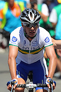 Road Race Cycling. SANTOS Tour Down Under.Adelaide.Australia. 18.01.2012.<br /> Stage 2, Lobethal to Sterling. 148km.<br /> William CLARKE (Aus) for team Uni SA Australia wins the stage  by 60 at Sterling.<br /> &copy; ATP / Damir IVKA
