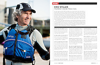Portrait of Eric Stiller, owner of Manhattan Kayak Co. for Canoe & Kayak magazine