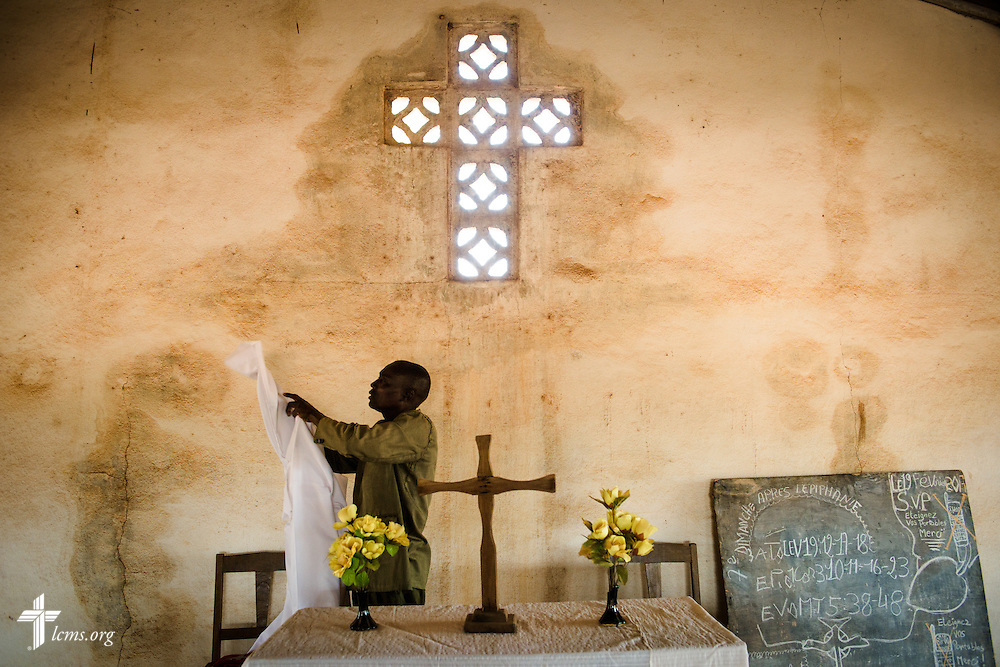 The altar of the Lutheran Church of Togo in Mire on Sunday, Feb. 12, 2017, in Mire, Togo. LCMS Communications/Erik M. Lunsford