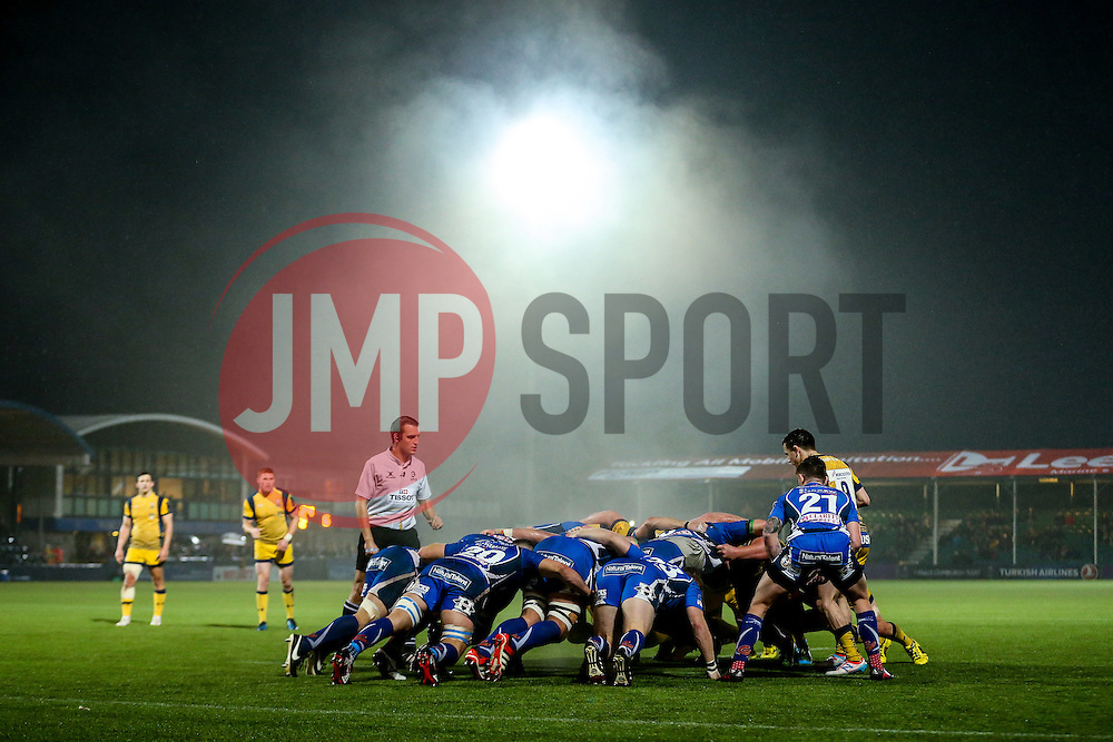 Scrum - Rogan Thomson/JMP - 10/12/2016 - RUGBY UNION - Sixways Stadium - Worcester, England - Worcester Warriors v Newport Gwent Dragons - European Rugby Challenge Cup.