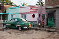 Old American car in Holguin, Cuba.
