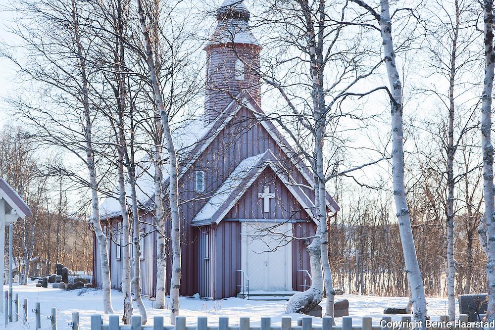 Stugudal kapell, Stugudal i Tydal. Godt og vel 20 kuldegrader gjør at alt rimer.