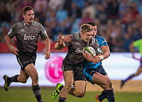 PRETORIA, SOUTH AFRICA - MAY 06: Jack Goodhue of the Crusaders scores a try during the Super Rugby match between Vodacom Bulls and Crusaders at Loftus Versfeld on May 06, 2017 in Pretoria, South Africa.<br /> (Photo by Anton Geyser/Gallo Images)
