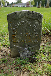 31 August 2017:   Veterans graves in Cheneys Grove Township Cemetery in eastern McLean County.<br /> <br /> Jerome V Sohn  Co A  144 OHIO INF