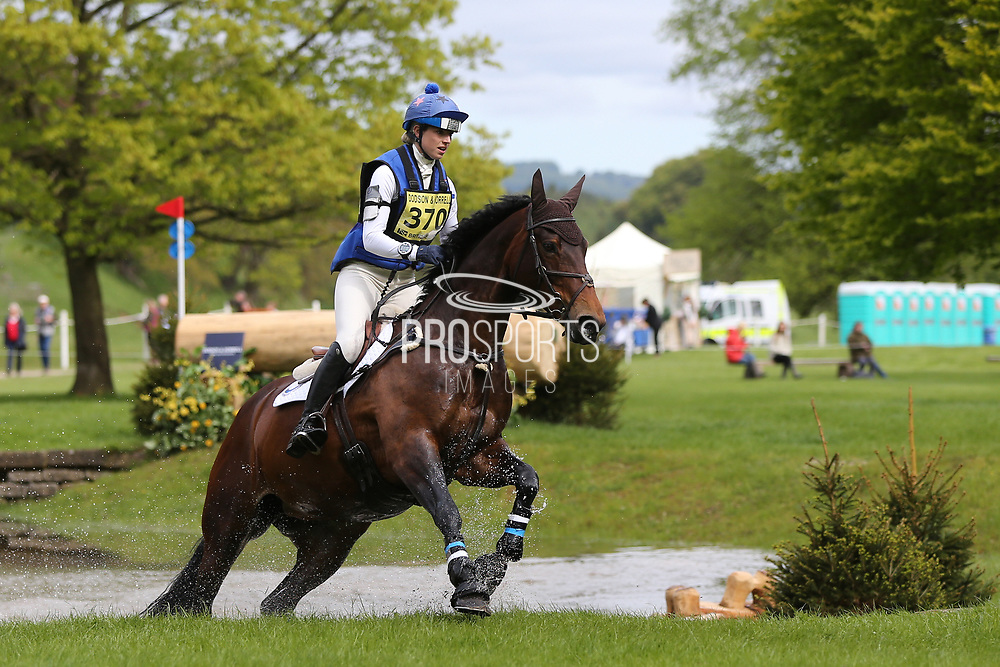 Sophie Platt riding Foxglove Skylark during the International Horse Trials at Chatsworth, Bakewell, United Kingdom on 12 May 2018. Picture by George Franks.